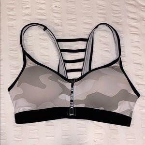 Gray camo Victoria's Secret racerback sports bra